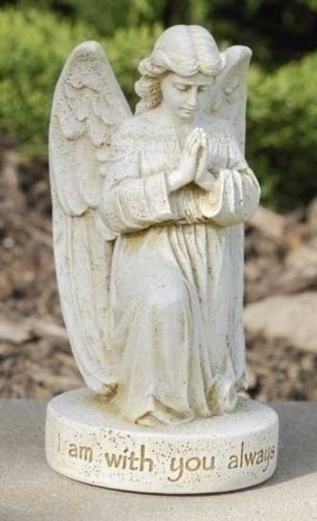 Angel Praying I Am Always With You Memorial Garden Statue