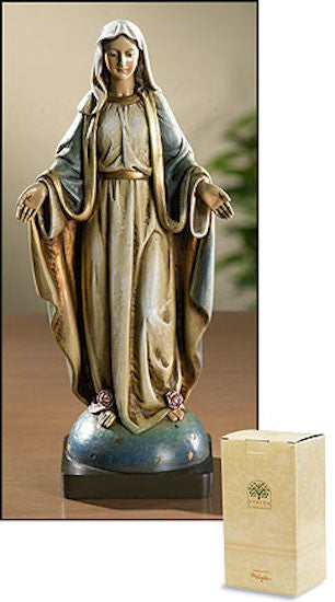 Madonna Our Lady of Grace With Stars Statue