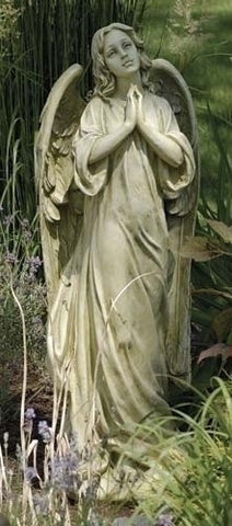 "Praying Angel Garden Figure Large Size 36"" Tall Indoor Or Outdoor"