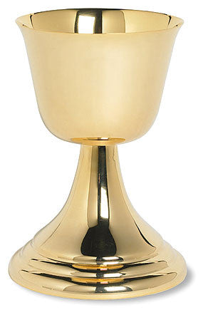 Brass Gold Plated Communion Common Cup 14 Oz
