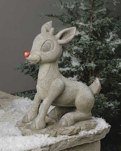 Rudolf  Solar Light Up Solar Christmas Statue