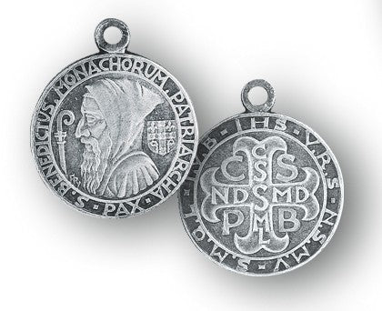 Sterling silver Benedict medal