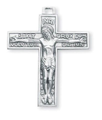 Sterling Silver Stat Crux Dum Volvitur Orbis Crucifix on Chain