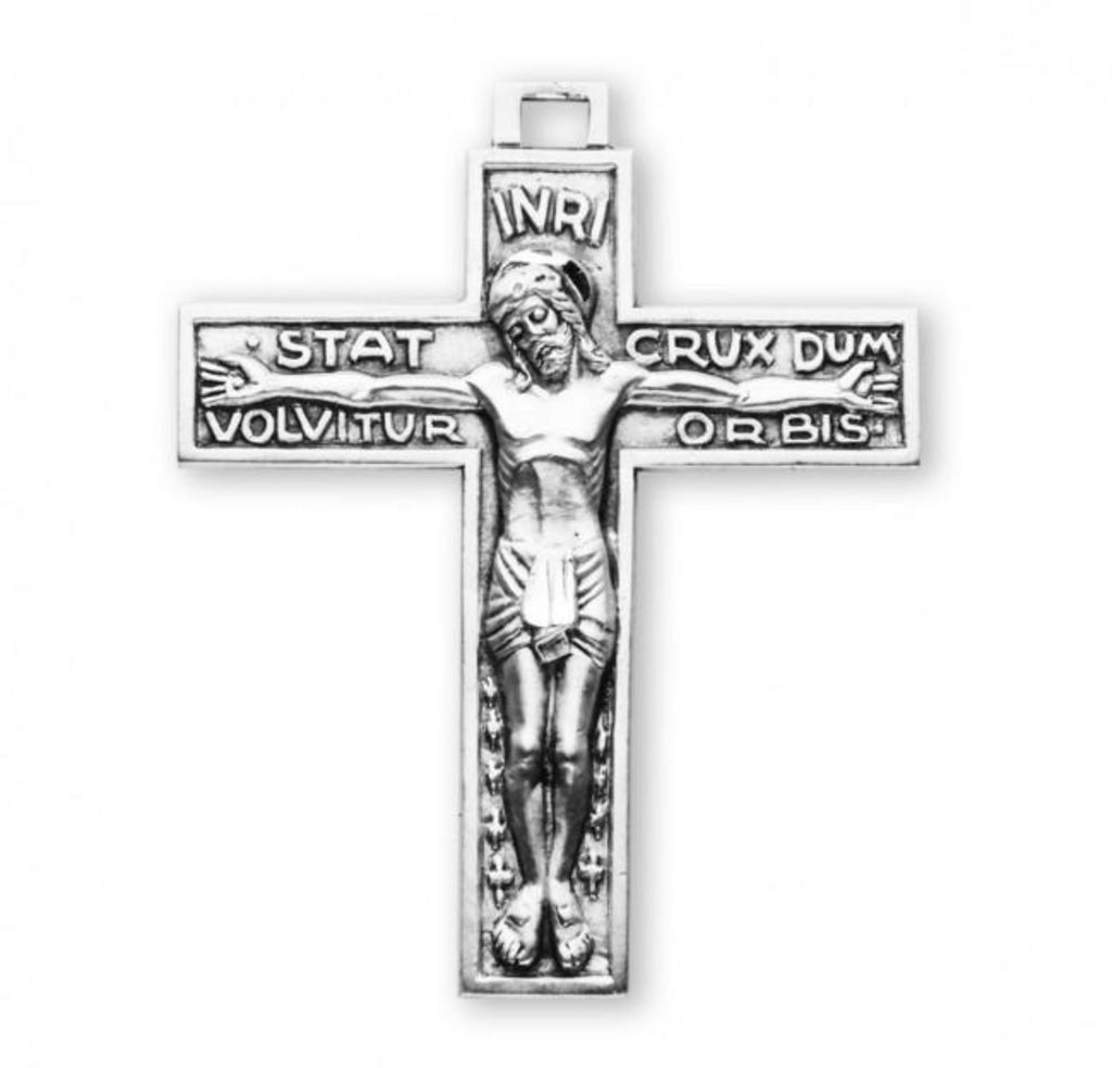 Stat Crux Dum Volvitur Orbis Sterling Silver Crucifix Jesus Crucifix On Chain Made In Usa