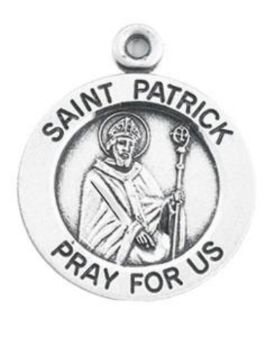 Saint Patrick Pray For Us Sterling Silver Special Irish Devotion Medal On Chain