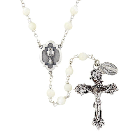 First Communion Rosary Chalice Center Piece