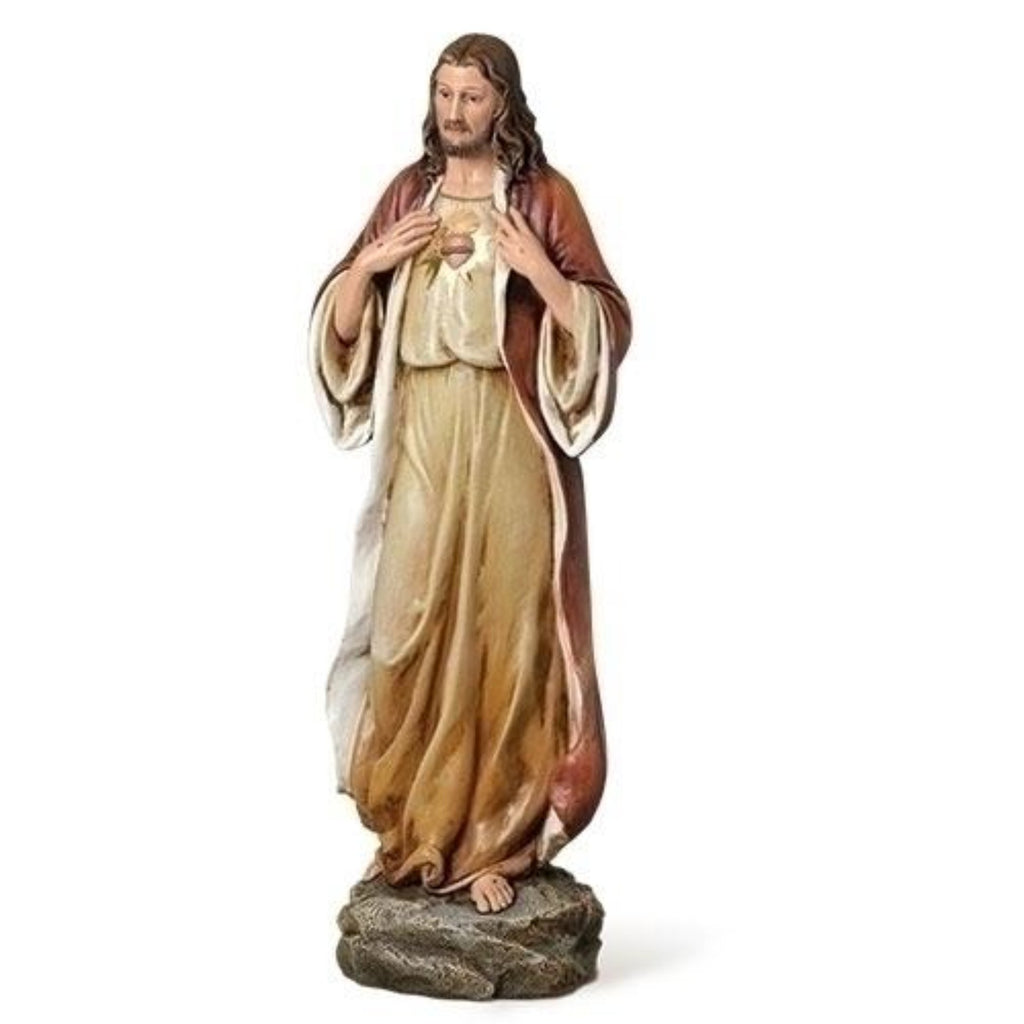 "Sacred Heart Of Jesus Vintage Styel Statue 14"" Tall Renaissance Collection"