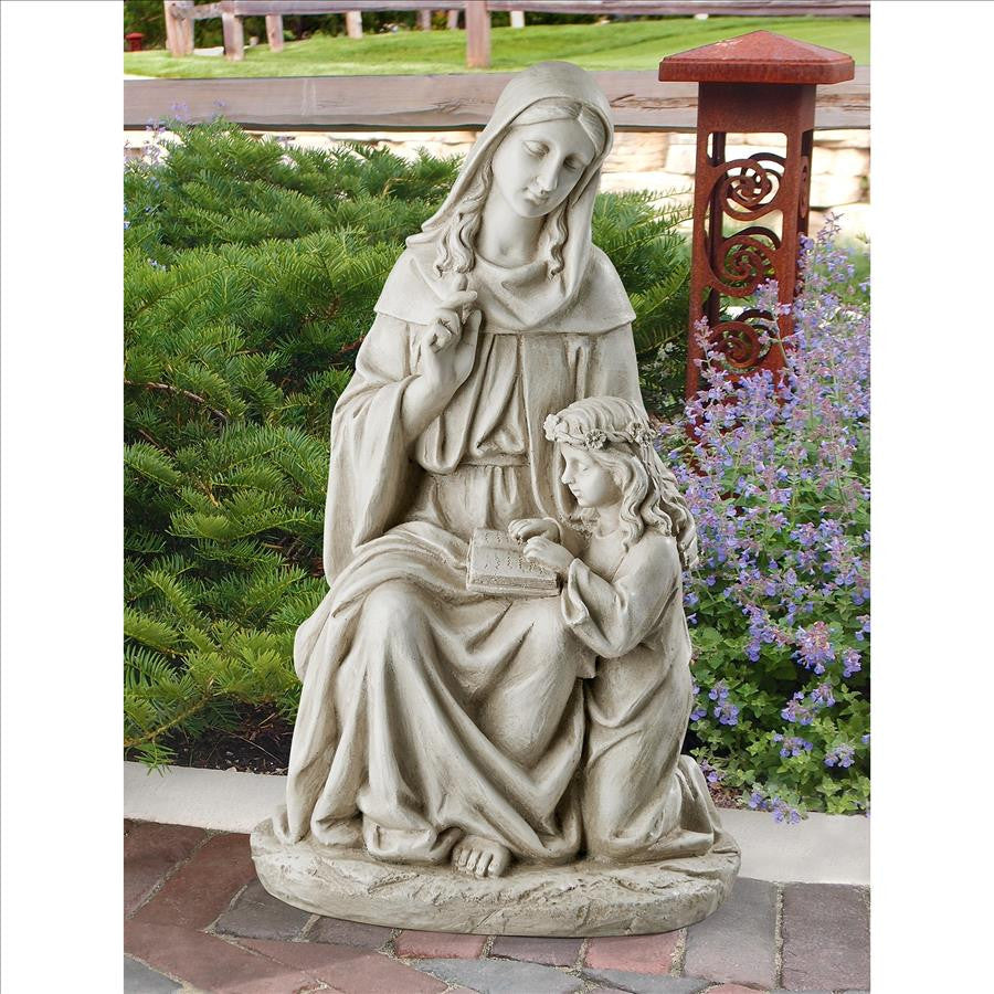 Saint Anne With Mary As Child Garden Statue
