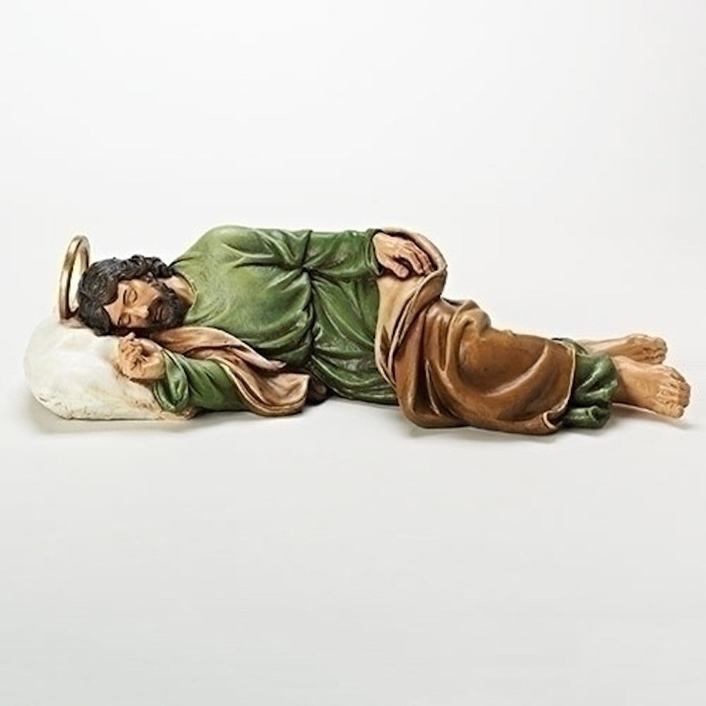 Sleeping Saint Joseph Statue With Story Card  Roman Collection Extra Large size