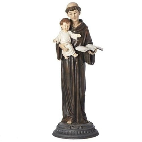 Vintage Style Distressed Saint Anthony With Child Figure