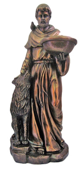 Saint Francis with with Wolf Statue