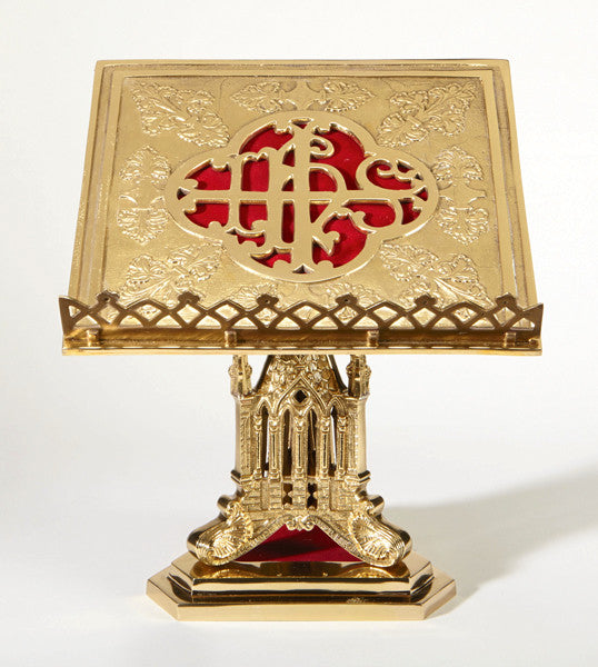 Ornate IHS Missal Stand Bible Holder