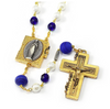 Lourdes Locket Murano Beads & Gold Rosary By Ghirelli
