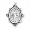 Sterling Silver Swarovski Crystal Edged Madonna Miraculous Medal
