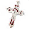 Mary's Motherly Love Collection Aurora Borealis Red & Silver Rosary By Ghirelli