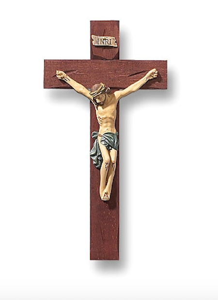 "Jesus Christ Roma Traditional Style Wall Crucifix   Tomaso Roma Collection 8"" Tall"