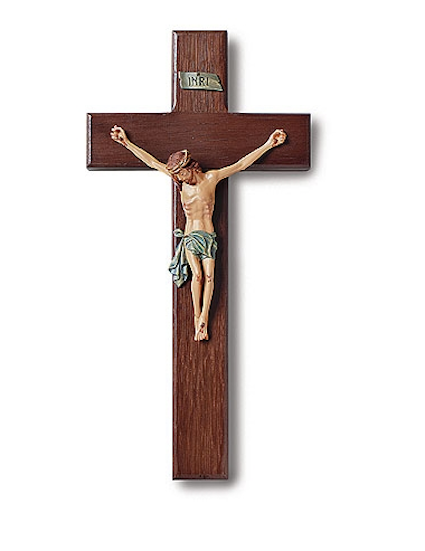 "Jesus Christ Roma Traditional Style Wall Crucifix 10"" Tall"