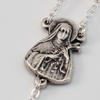 Saint Therese Of Lisieux Silver Plated Rosary plated Rosary By Ghirelli