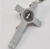 Saint Benedict Silver Plated Rosary By Ghirelli