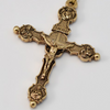 Saint Francis of Assisi Gold Plated Rosary By Ghirelli