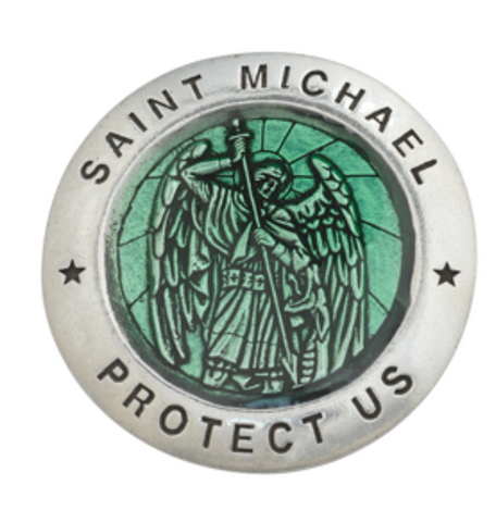 Saint Michael Protector Visor Medal Clip Extra Large