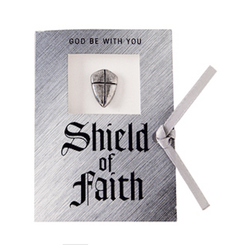 Shield Of Faith Lapel Pin  Christian Gift
