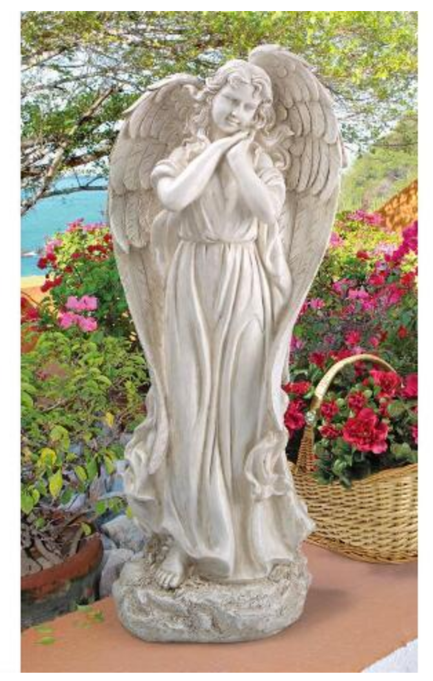 Gaurdian angel figure for garden or patio Memorial angel