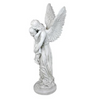 Heavens Guardian Angel Garden Memorial Statue Large 38 Inch Tall