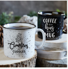 Campfires And Cuddles Rustic Ceramic Mugs Set of Two