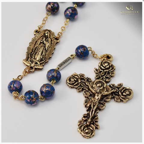 Our Lady of Guadalupe Gold Plated Rosary By Ghirelli