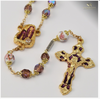 Our Lady of Lourdes Gold Plated Water Rosary By Ghirelli