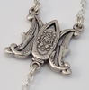Annunciation silver plated Rosary by Ghirelli