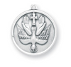Holy Spirit Sterling silver medal on chain