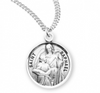 Sterling silver saint Archangel Raphael medal on chain