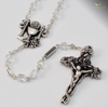Holy Communion Silver Plated Rosary By Ghirelli