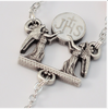 First Communion Sterling Silver Rosary With Angels By Ghirelli