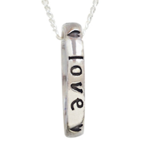True Love Waits Purity Necklace Sterling Silver Small Script Ring with Hearts