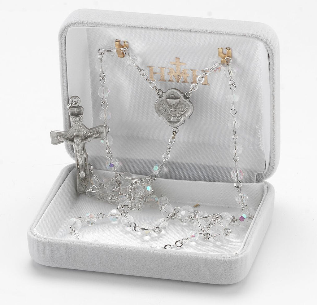 First communion crystal rosary
