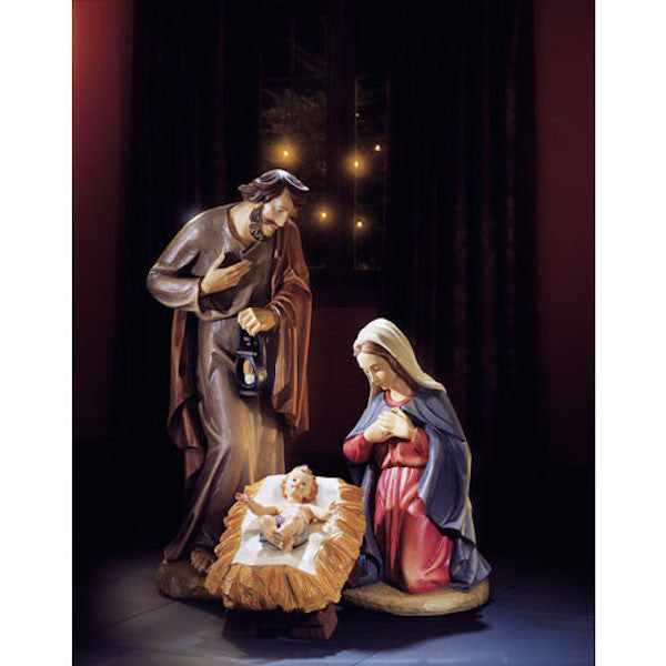 "Three Piece Church Nativity Scene Large Size 32"" Tall"