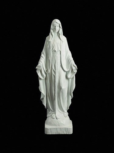 "Our Lady Of Grace Indoor Outdoor Church Statue 48"" Tall"