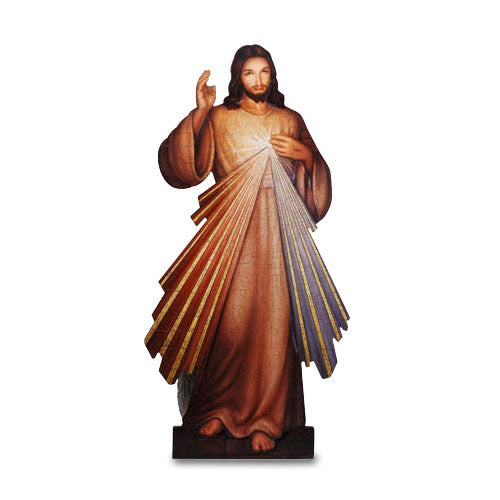 "Divine Mercy of Jesus Church Size Icon Plaque 31"" Tall"