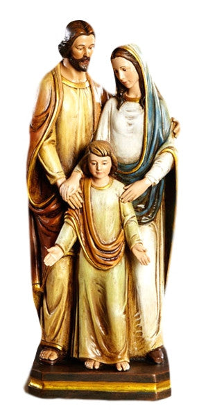 "Holy Family Jesus Mary Joseph Religious Statue 12"" Tall"