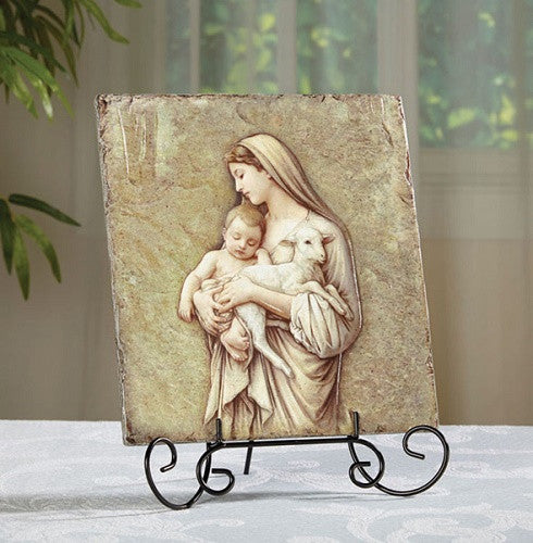Madonna and Child Plaque Innocence By Artist Marco Sevelli