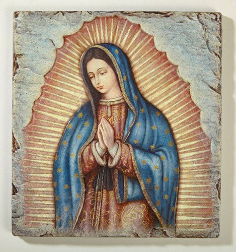 Our Lady Of Guadalupe Icon Plaque By Artist Marco Sevelli