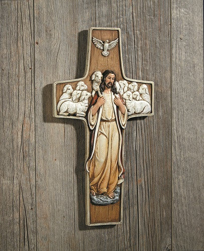 Jesus the Good Shepherd Wall Cross