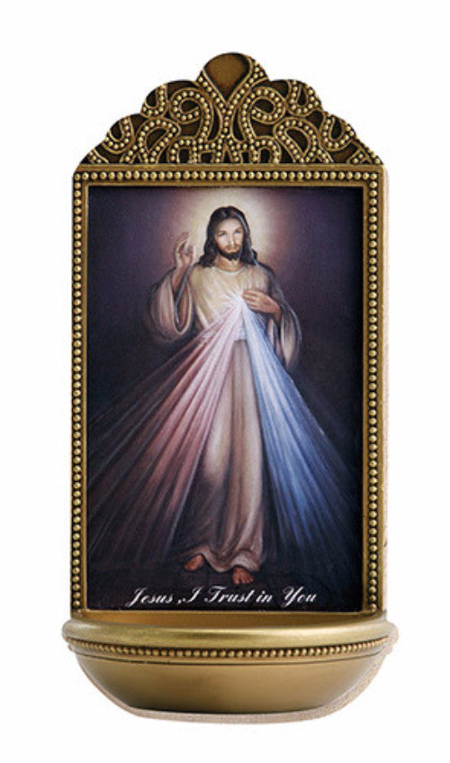 Divine Mercy Of Jesus Holy Water Font For Chapel Or Home