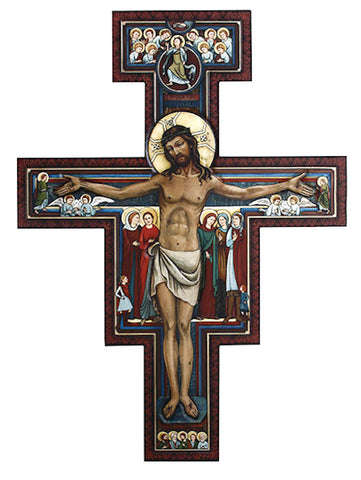 "San Damiano Crucifix Extra Large 31"" Tall"