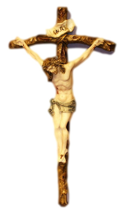 Jesus Alabaster Wall Crucifix  By Artist Aldo Santini Made In Italy