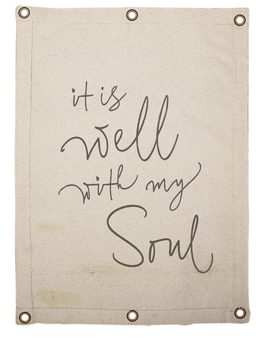 All Is Well With My Soul Canvas Wall Banner
