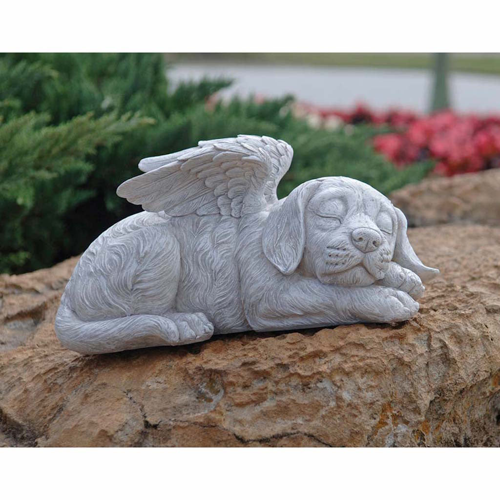 Dog Angel Memorial Garden Statue